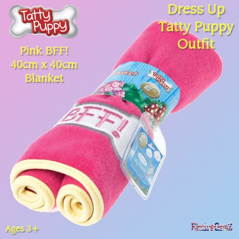 Me To You Dress Up Tatty Puppy Outfit - Pink BFF Blanket