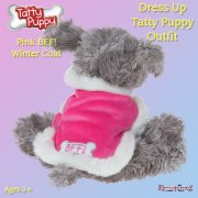Me to You Tatty Teddy Me To You Dress Up Tatty Puppy Outfit - Pink BFF Winter Coat