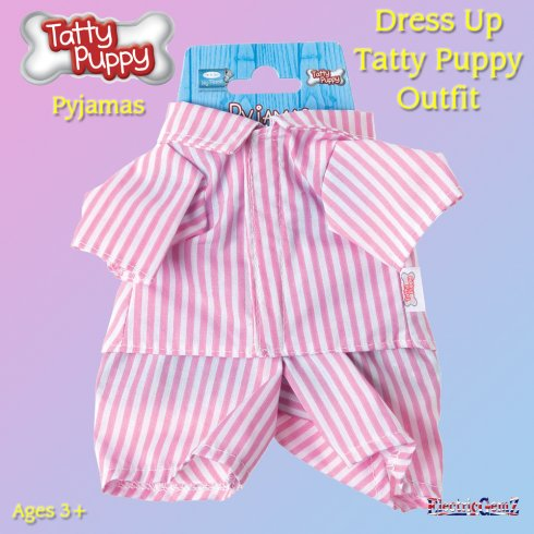 Me To You Dress Up Tatty Puppy Outfit - Pink Pyjamas