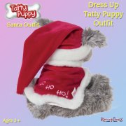 Me to You Tatty Teddy Me To You Dress Up Tatty Puppy Outfit - Santa Outfit