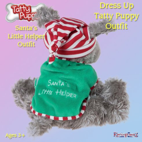 Me To You Dress Up Tatty Puppy Outfit - Santa's Little Helper