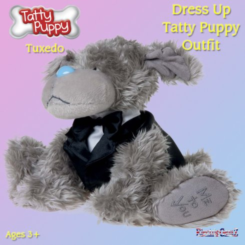 Me To You Dress Up Tatty Puppy Outfit - Tuxedo
