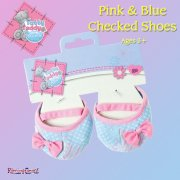 Me to You Tatty Teddy Me To You Dress Up Tatty Teddy Outfit - Pink and Blue Checked Shoes