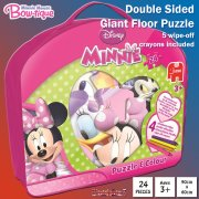 Mickey Mouse Clubhouse Minnie Mouse 24-piece Double-Sided Giant Puzzle & Colour