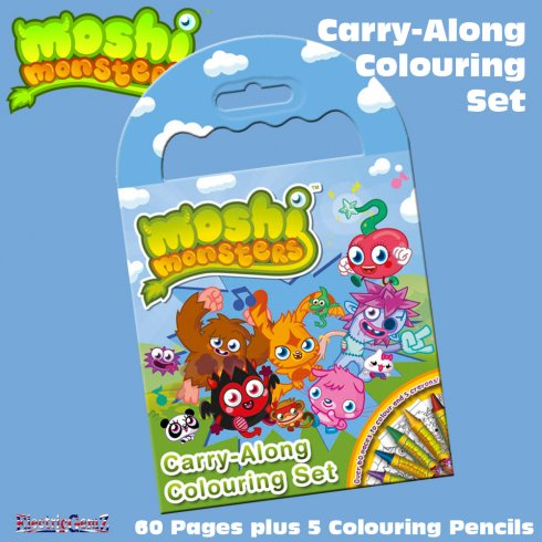 Moshi Monsters Carry-Along Colouring Set