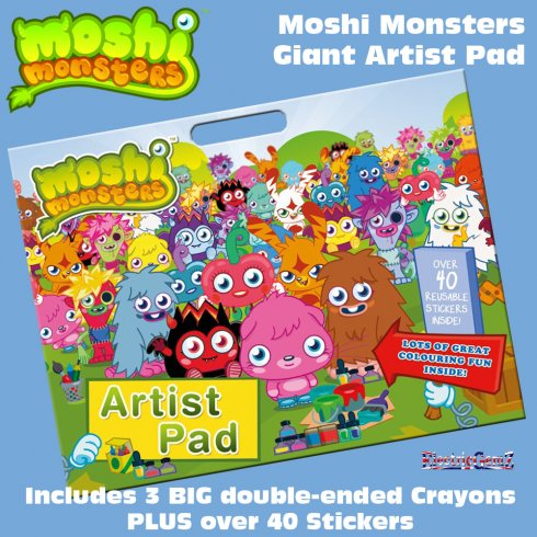 Moshi Monsters Giant Artist Pad