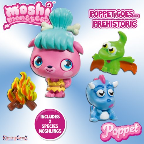 Moshi Monsters Poppet Goes Prehistoric