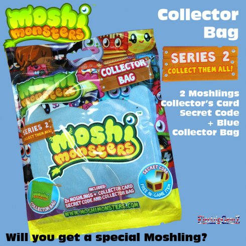 Moshi Monsters Series 2 Collector Bag Blue