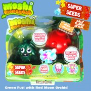 Moshi Monsters Super Seeds Green Furi with Red Moon Orchid