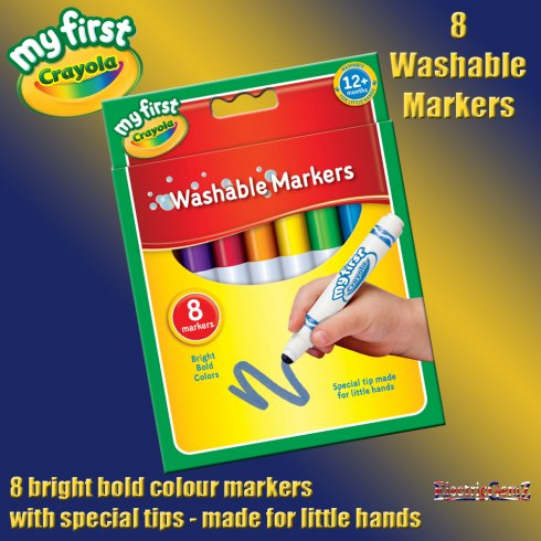 My First Crayola 8 Washable Markers