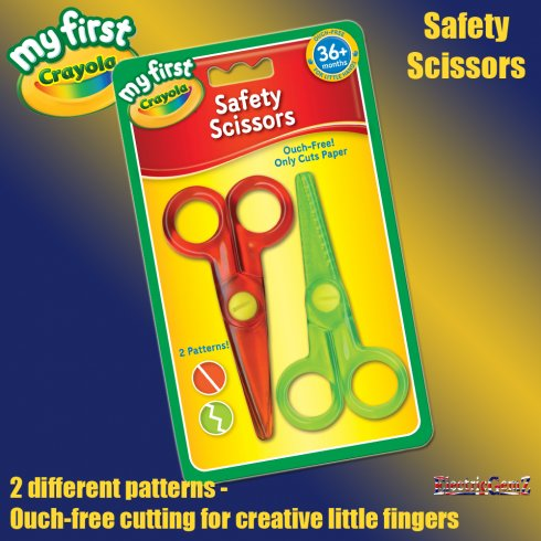 My First Crayola Children's Safety Scissors 2-Pack