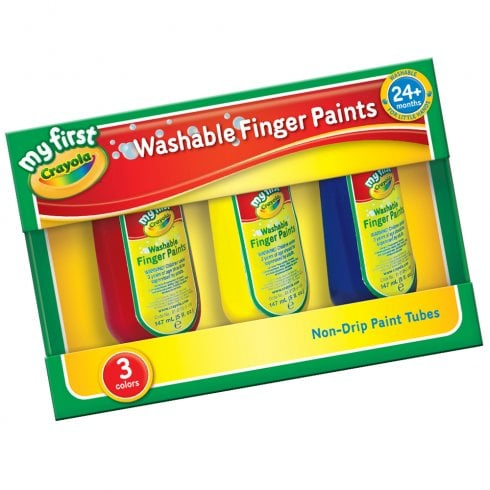 My First Crayola Washable Finger Paints 3-pack