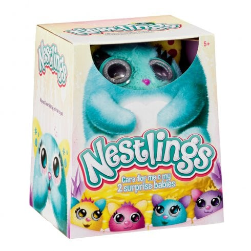 Nestlings Interactive Pet and Babies with Lights and Sounds - Teal
