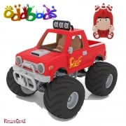 Oddbods Action Vehicles - Fuse's Off Roader