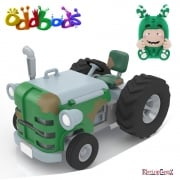 Oddbods Action Vehicles - Zee's Tractor