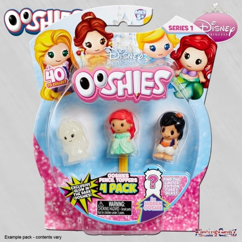 Ooshies Disney Princess 4-Pack Wave 1 Mix 4