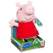 Peppa Pig - 20cm Eco Plush Supersoft Red Dress Peppa