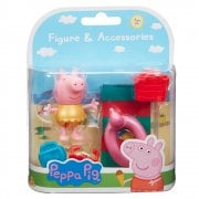 Peppa Pig Beach Figure & Accessories - Peppa in Gold Outfit