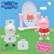 Peppa Pig Figure Pack B - Ballerina Peppa Nurse Suzy Mirror & 1st Aid Box