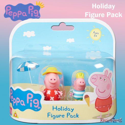 Peppa Pig Holiday Time 2-Figure Pack - Peppa & George with Sun Hats
