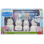 Peppa Pig Paint-Up Plaster Figures 4-Pack with 8 Paints
