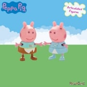 Peppa Pig Twin Figure Pack - Princess Peppa & Peppa in Rags
