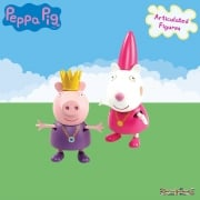 Peppa Pig Twin Figure Pack - Purple Dress Peppa & Lady Suzy