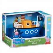 Peppa Pig Vehicle Assortment - Grandpa Pig's Boat with Pirate George Figure
