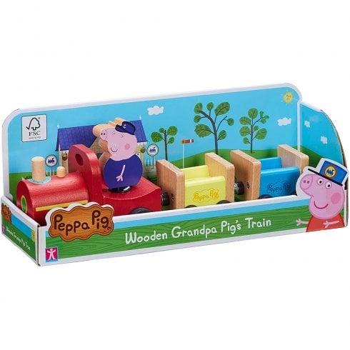 Peppa Pig Wooden Grandpa Pig's Train