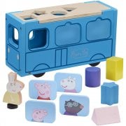 Peppa Pig Wooden School Bus Shape Sorter