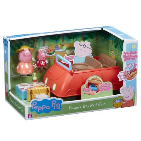 Peppa Pig's Big Red Car with Peppa Pig & Mummy Pig