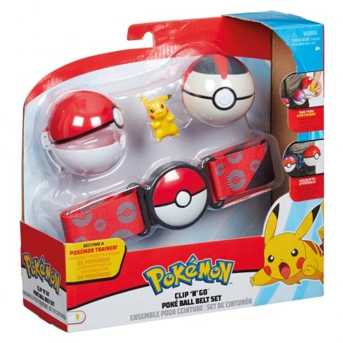 Pokemon Clip 'n' Go Poke Ball Belt Set with Pikachu Figure