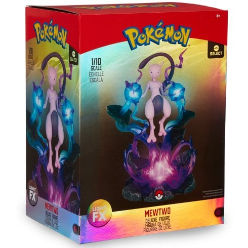 Pokemon Light FX Mewtwo Deluxe Collectable Figure