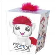 Pooki Interactive Pet with Sound Movement & Animated Screen - White