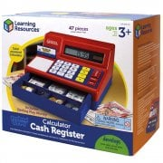 Pretend & Play Calculator Cash Register (UK Currency) 47 Piece Set