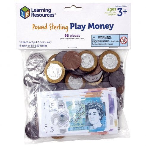 Pretend & Play HM Treasury Approved UK Money 96 Piece pack