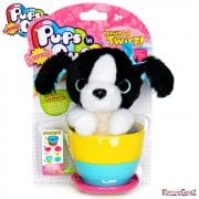 Pups in Surprise Cups Collection - Border Collie with Blue Bow