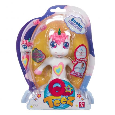 Qteez Stretch Unicorn - Pink Hair & White Body