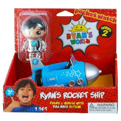 Ryan's World Series 2 Figure & Vehicle - Ryan's Rocket Ship