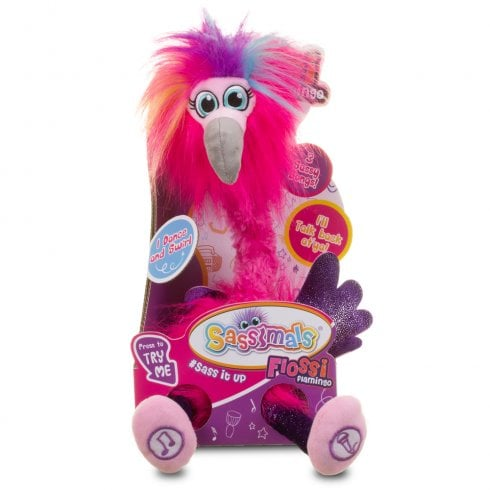 Sassimals Flossi Flamingo Talking Soft Toy