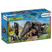 Schleich Dinosaur World 3 Dinosaur Set with Cave