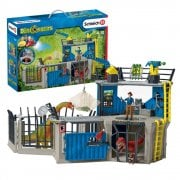 Schleich Dinosaur World Large Dino Research Station with 2 Dinosaurs