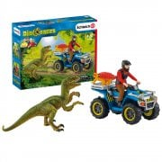 Schleich Dinosaur World Quad Escape from Velociraptor