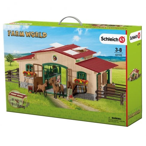 Schleich Farm Life Farm World Stable with Horses and Accessories
