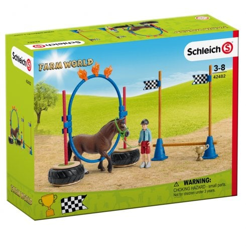 Schleich Farm World Pony Agility Race Set