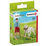 Schleich Farm World Walking with Labrador Retriever