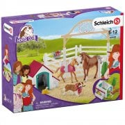 Schleich Horse Club Hannah's Guest Horses with Ruby the Dog