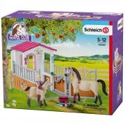 Schleich Horse Club Horse Stall with Arab Horses and Groom