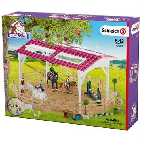 Schleich Horse Club Riding School with Riders and Horses