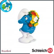 Schleich Smurfs 20469 - Smurf with a Bouquet of Flowers